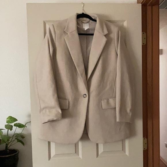 H&M Wool Blend Oversized Blazer
